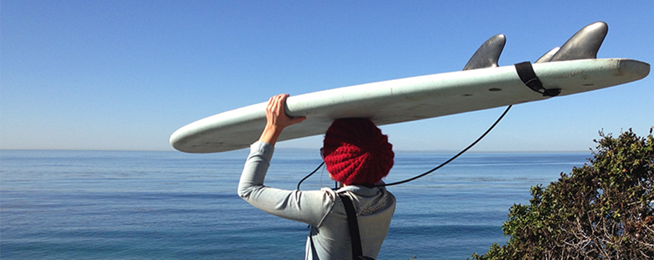 Graduate student ready to surf